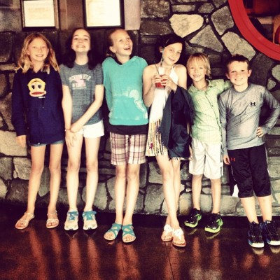 New 3rd graders and 6th graders (Taken with Instagram)