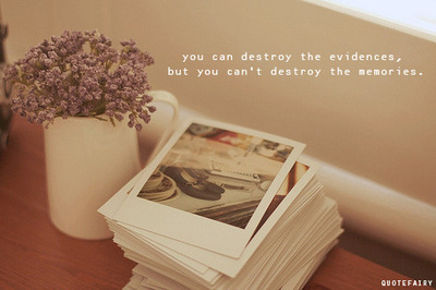 bestlovequotes:  You can destroy the evidence but you can't destroy the memories | FOLLOW BEST LOVE QUOTES ON TUMBLR  FOR MORE LOVE QUOTES