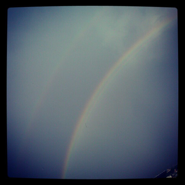 Somewhere over the rainbow, there's another rainbow!  (Taken with Instagram)