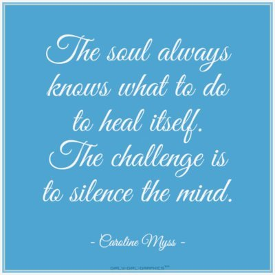 The soul always knows….