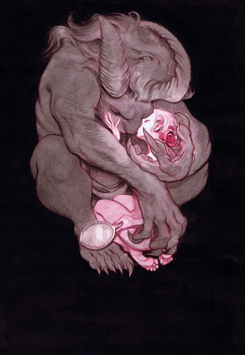 marasbazaar:  Wow hello-zombie:  beauty and the beast by mindy lee