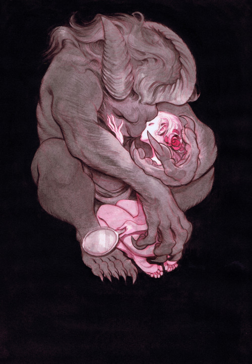 hello-zombie:  beauty and the beast by mindy lee