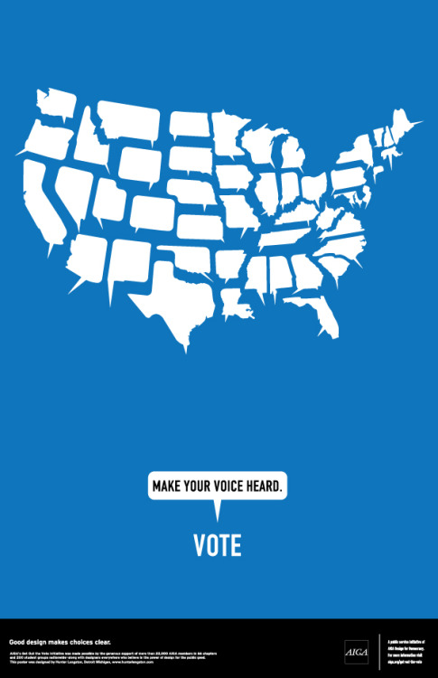 My design for the 2012 AIGA Get Out the Vote campaign