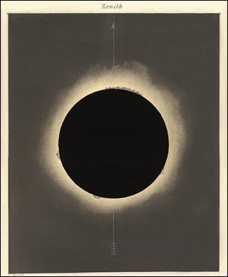"Eclipse Zenith, 1858, ""It's the emptiness of it that fascinates me."""
