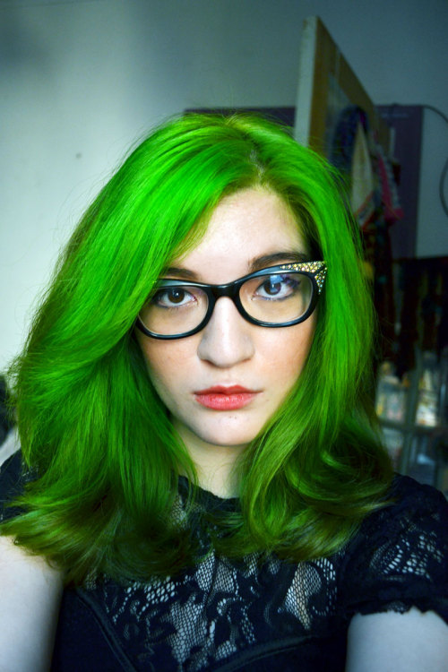 Just a quick update — new hair color! This is a mix of a couple of dyes, and a lot of effort on my part to get it moderately light enough to accept a new color. Purple dye STAINS! It turned out ok though… Arrojo (theArrojo!) stopped and complimented my hair twice before I left the salon! I love watching him cut on What Not to Wear so I was a lil' starstruck, ahaha.  They did a complimentary makeup touchup, so I don't know what blush I have on. The lipstick is NYX EROS though, and my liner is Shiseido.