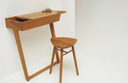Simple and stunning console table and stool from British designer, Phil Procter. We hope like us you'll be keeping a close eye on Phil… we love his stuff. He's firmly a Maison Instyle favourite and was responsible for the beautiful Nina Table. Source: http://www.yankodesign.com/2012/05/22/charmingly-minimal-table/