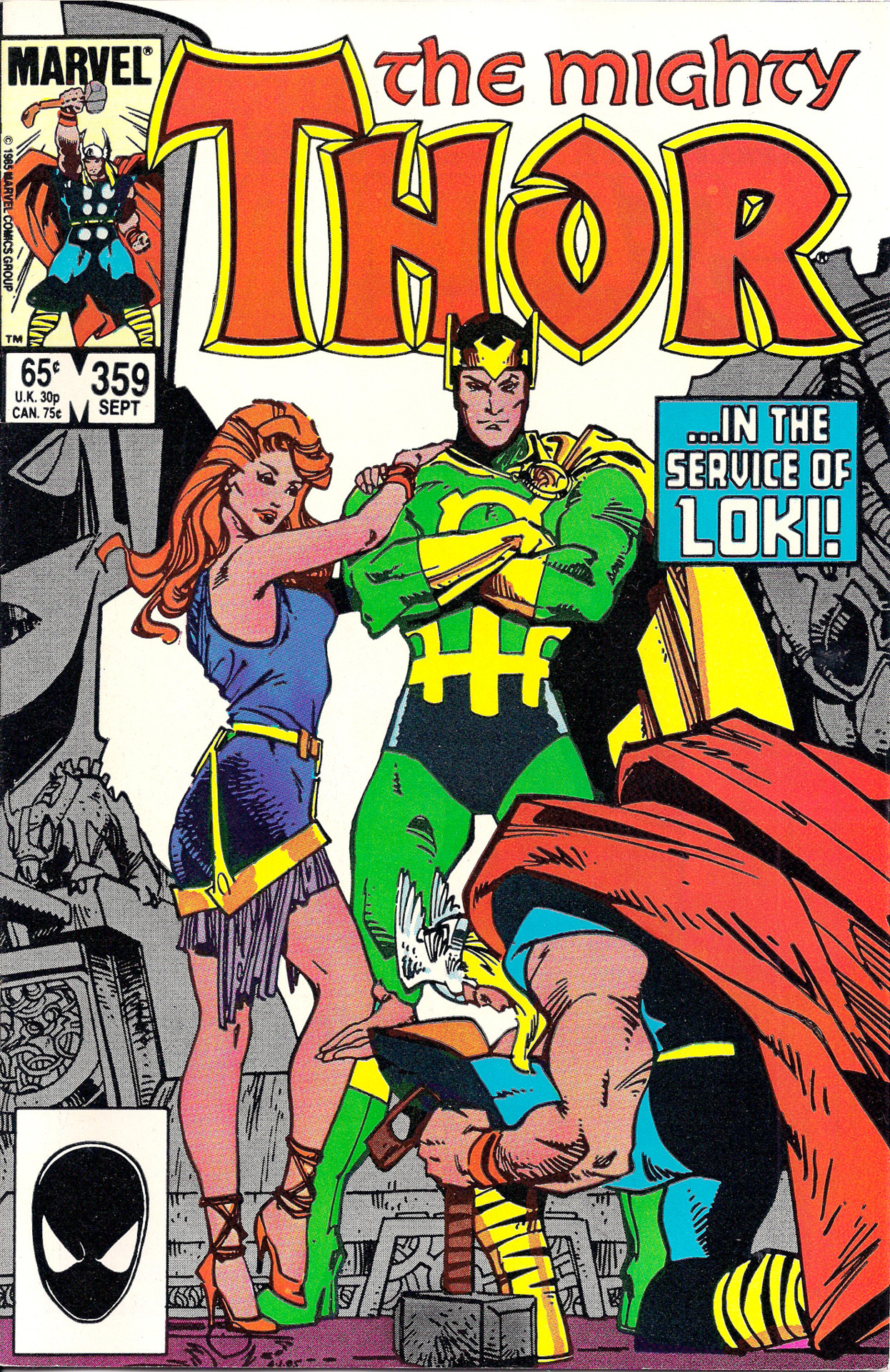 mosellegreen:  guardtristan:  archivovivo:  Thor 359 (sep 1985) Art and Story: Walt Simonson  #i just noticed that loki is wearing heels  If only I could hope this issue was all the cover implies. But that's why we have fanfiction.