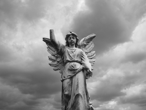 grey skies angel on Flickr.