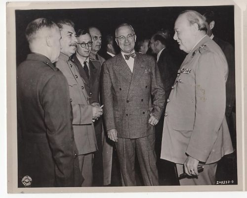 Stalin, Churchill, Truman, before Potsdam July 1945