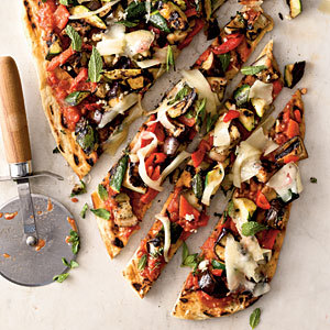 Veggie Grilled Pizza- My Recipes