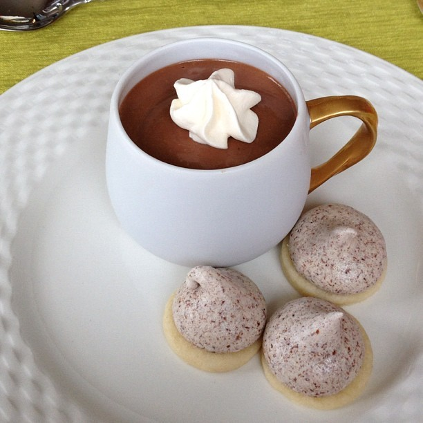 @juliedreyfoos's pots de creme and #meringue bubbles #dessert #chocolate #nofilter (Taken with Instagram at Juanita Beach Park)