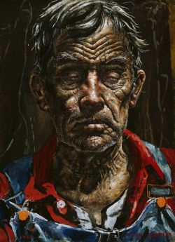 cavetocanvas:  Ivan Albright, A Face From Georgia, 1970/74