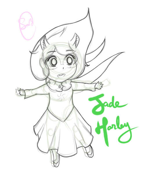 "yep, jade~ With the help of: ""a thousand years ♫~"""