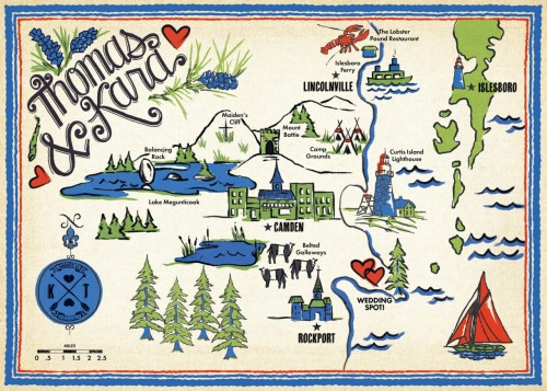 this is a map i made, under K&T's astute art direction, for their wedding invitation.