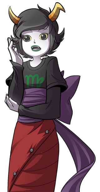 Sketchbreak that turned into not-a-sketch! Kanaya as if she was talkin in a RPG/visual novel, 'cause I don't think I ever drew Kanaya before.