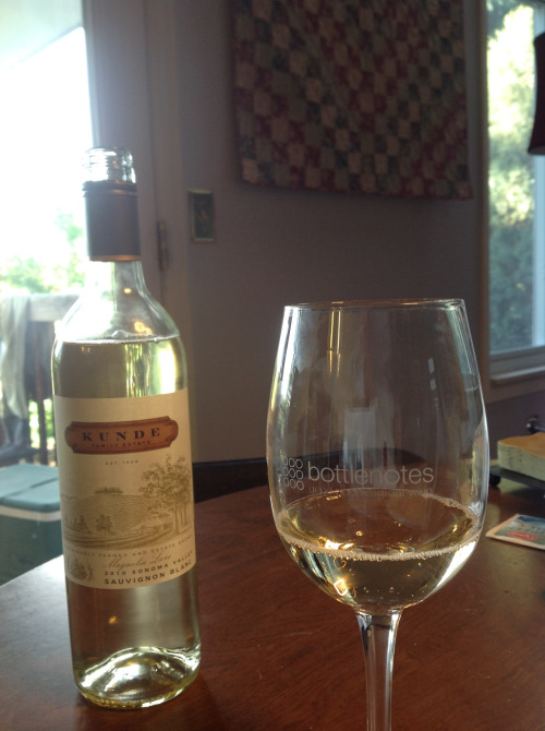 Kunde Family Estate 2010 Magnolia Lane Sauvignon Blanc: Grassy, lemony nose with a little orange blossom. Very zesty flavors of grapefruit, key lime, orange rind, white pepper and lemongrass. Don't serve too cold or you'll kill the verve. Pretty good for $14.99.