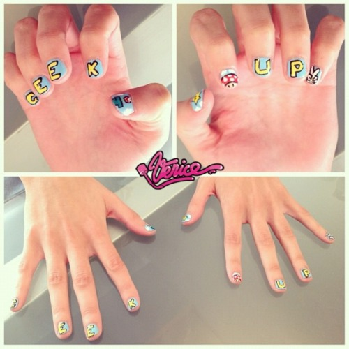 thisisvenice:  Marina, YOU GOT PIMPED !!  GEEK UP Agency SPECIAL MANI