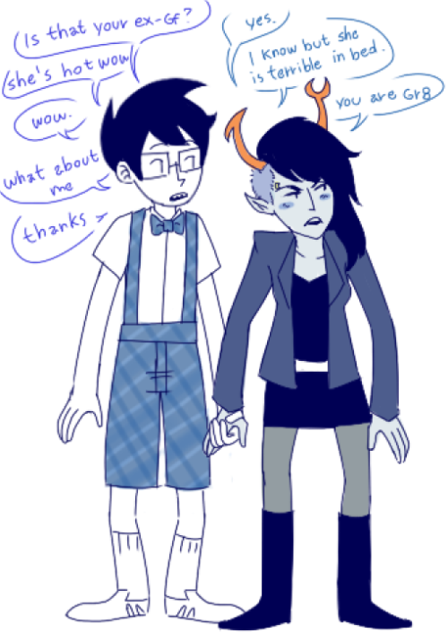 yazzdonut:  a+ relationship     This looks so astonishingly awkward and dorky and bizarre that there's really nothing else I can say about it?