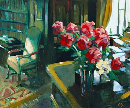 Philip Craig Red Roses on Desk 2012