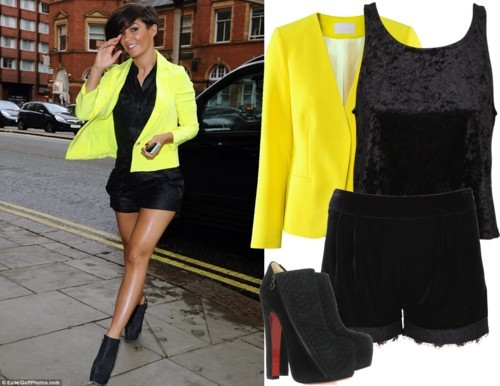 Dress Like Frankie Sandford by soflovesfashion featuring crop topsCrop top$50 - generalpants.com.auH m jacket£35 - hm.comAlice In The Eve velvet shorts$30 - generalpants.com.au