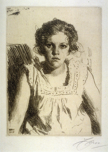 artsandqarts:  Anders Zorn, etching portrait by deflam on Flickr.