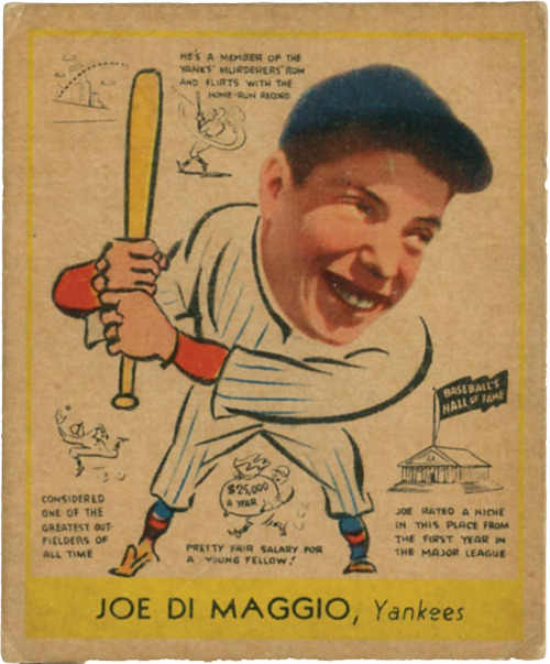 This man married Marilyn Monroe. That is all. thecardmuseum:  1938 Goudey Joe DiMaggio
