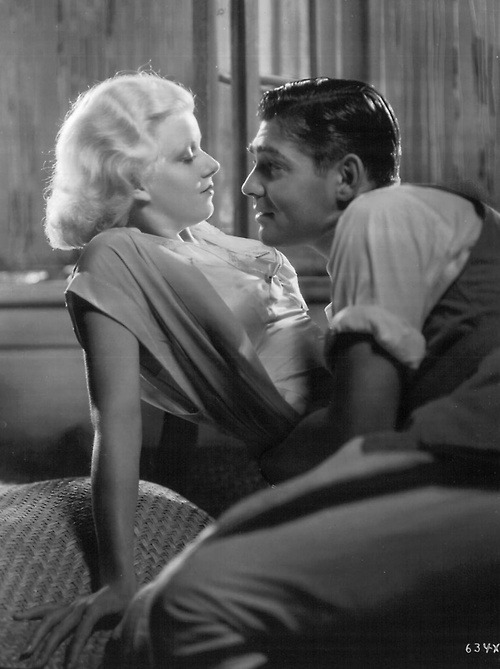 lovingjeanharlonw:  Red Dust with Clark Gable. If this is not a very sexy picture, such chemistry!
