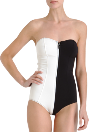 What would Arya wear?A black and white swimsuit for her time training to be a Faceless Man in the House of Black and White.