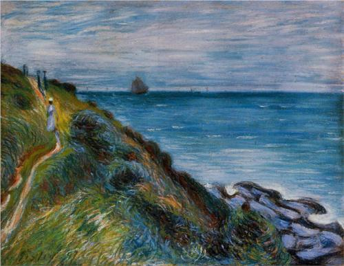 Alfred Sisley, On the Cliffs, Langland Bay, Wales, 1897