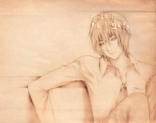 Light Yagami, Death Note Cr: inbluesaeki @ dA