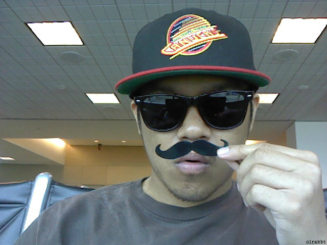 Waiting At The Airport With My Cool Mustache Hahaha :D