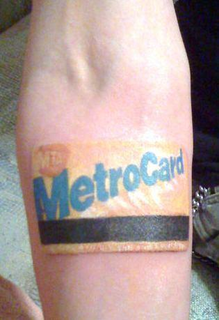 Know's what's awesome?  Subway-themed tattoos.  That shit's awesome. (And this fulfilled my wish! Although, they're right—a NYC subway map would require one dedicated tattoo-ee)  (Via @TransportNation)