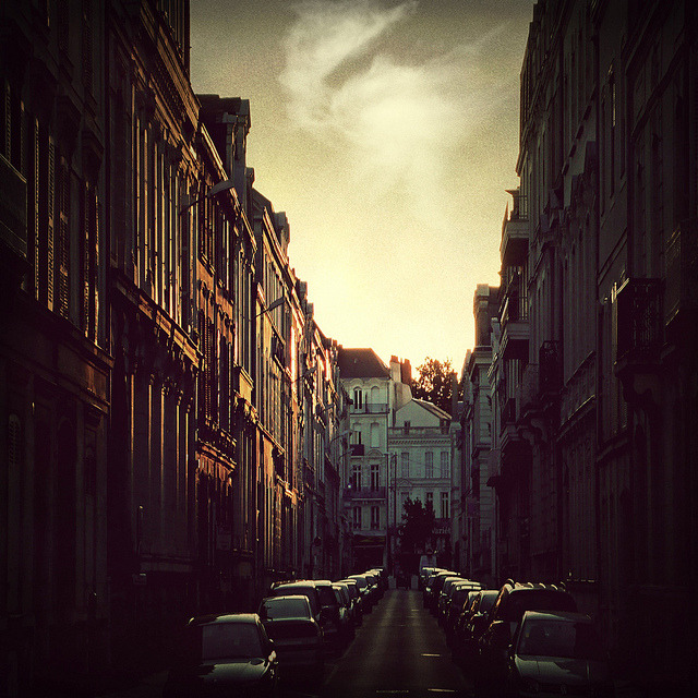 ysvoice:  | ♕ |  Streets at sunset - Angers, France  | by © Louise LeGresley