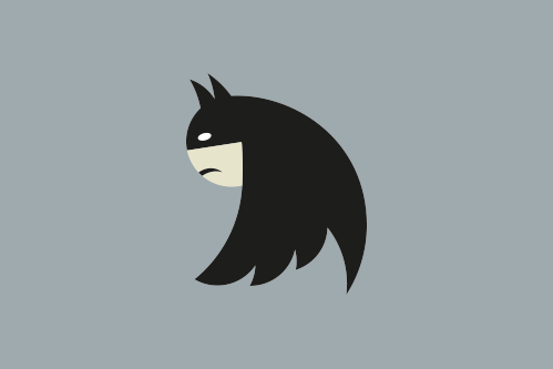 "nevver:  ""if you turn the new Twitter logo upside-down, it's Batman"""