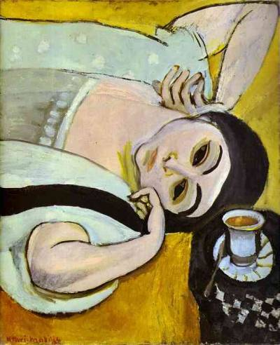 lessonsoftoday:  Henri Matisse - Laurette's Head with a Coffee Cup