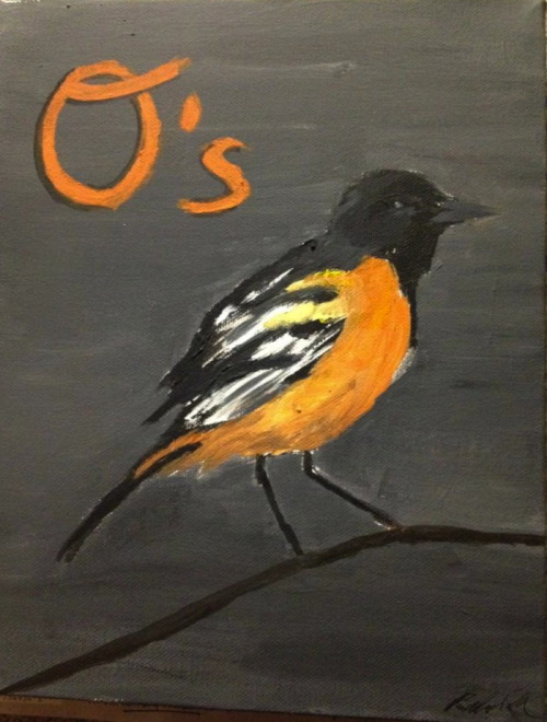 Twenty minute Oriole bird painting :)