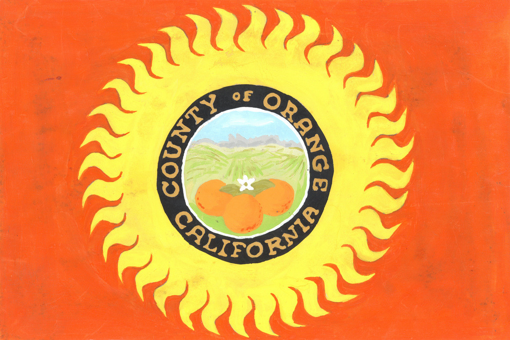Orange County flag design, ca. 1968.