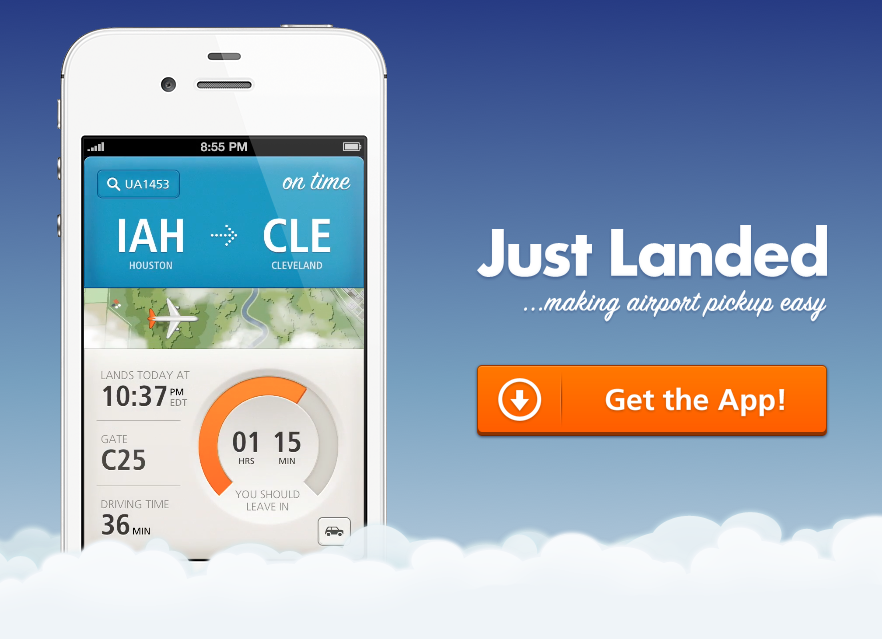 Wish I flew more just so I could use this beautiful app! •  http://www.getjustlanded.com/  •