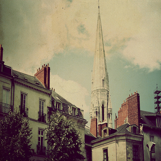 | ♕ |  Belfry of St-Nicolas - Nantes, France  | by © Louise LeGresley