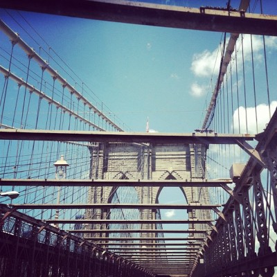birdwings:  #Brooklyn bridge earlier today. I 💜 NY. (Taken with Instagram)