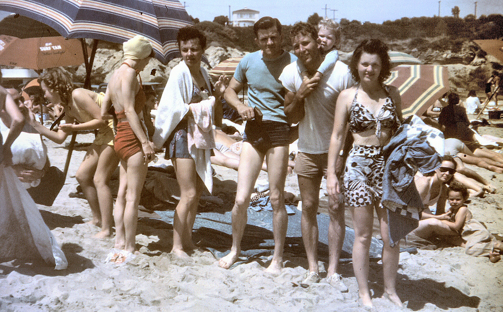 Day at the beach, Orange County, Calif., ca. 1940s.