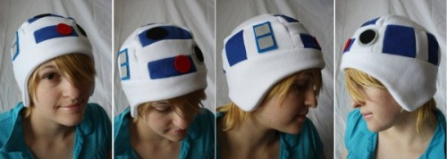 Nerdy fleece hats!  R2-D2 and more. Click here to check em out!