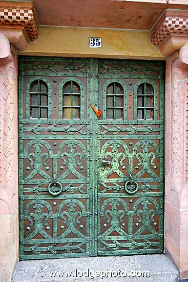 Germany…copper & bronze door