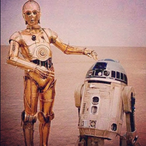 electrarosepinup:  My Bestie and I, chillin' in the sand! #starwars #threepio #c3po #r2d2 #anewhope #episodeIV #droids #thesearethedroidsyourelookingfor #lol #nerd #geek #beach (Taken with Instagram)