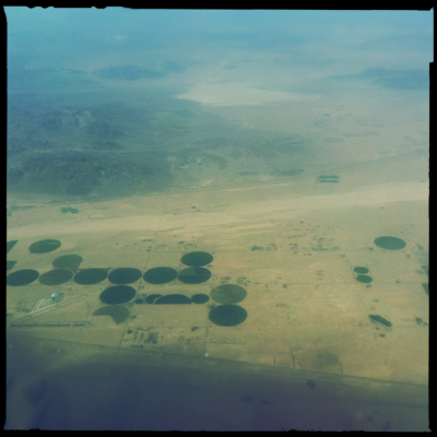 over the desert/circles