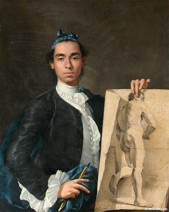 Luis Egidio Melendez, Self-Portrait, 1746-7, Louvre, Paris