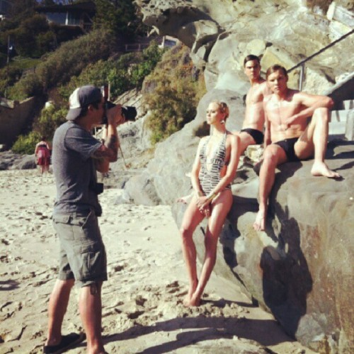 #BTS w @Bellomag #summerfashion @armentaphoto @jamiebreuer @sienree #onlocation #LagunaBeach   (Taken with Instagram)