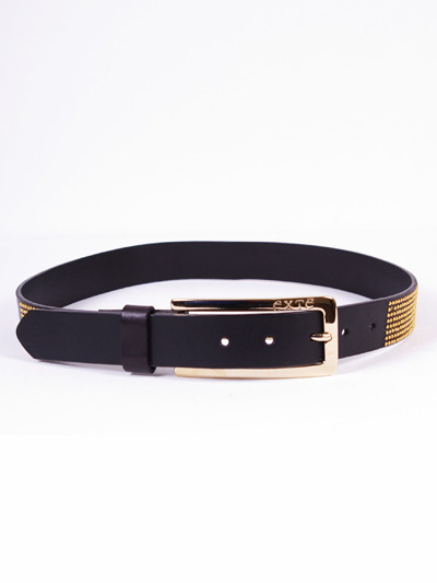 EXTE Women's Belt w/Golden Buckle - BlackMore photos & another fashion brands: bit.ly/JzBGdB