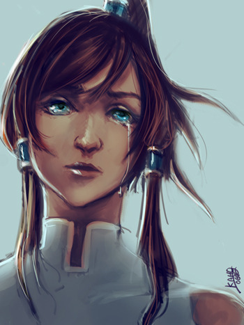 Korra being emo quick45-60 minute sketch ;____; my feels http://www.ka-ho.deviantart.com