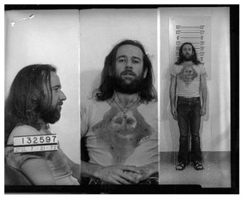Comedian George Carlin was arrested by Wisconsin police in July 1972 and charged with public indecency for violating obscenity laws by performing the routine 'Seven Words You Can Never Say on Television.' A Milwaukee judge later dismissed the charges against the 35-year-old comic.